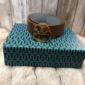 Tory Burch tan leather belt